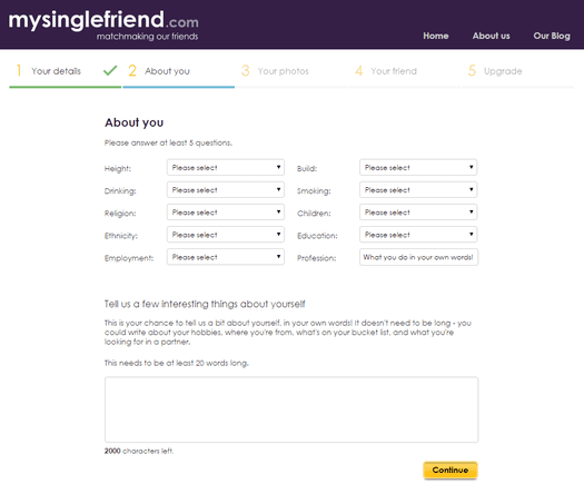 mysinglefriend sign up
